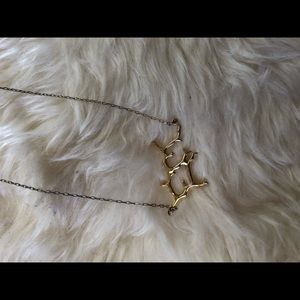 Banana Republic gold-toned branch necklace